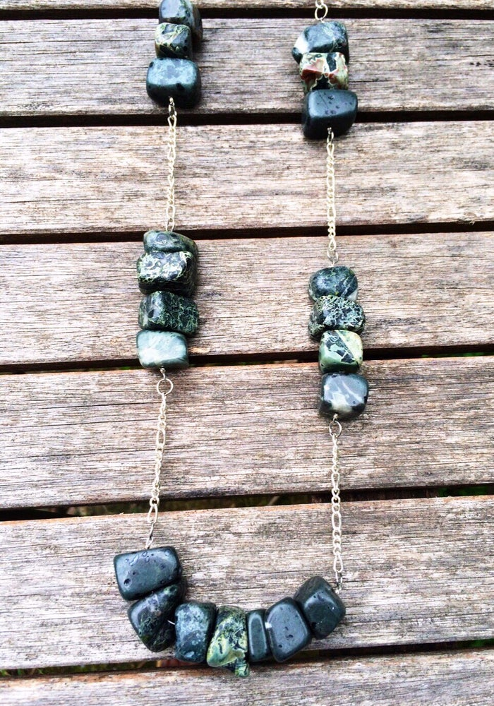 Image of Large Green Stone Necklace