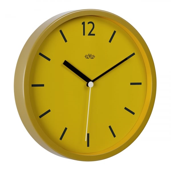 Image of Mustard Round Wall Clock