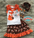 Image of Happy Wild and Free Fox Tank Top and Skirt Set, Little Girl Toddler Baby Bling Outfit