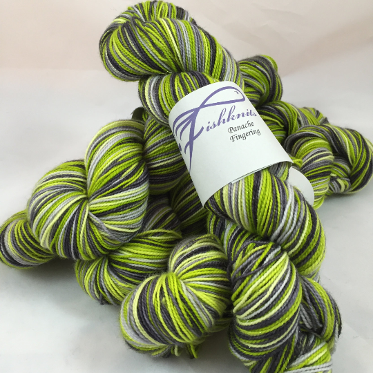 Image of Zombie's Ten: Superwash Boot Strap BFL, Strong Heart, or tweedy Stalwurthe Self Striping Sock Yarn