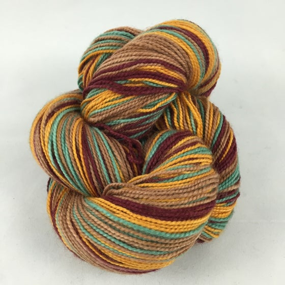 Image of Autumn Kiss, lighter version: Superwash Strong Heart Self Striping Sock Yarn