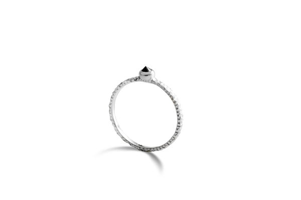 Image of Sis ring with black spinel