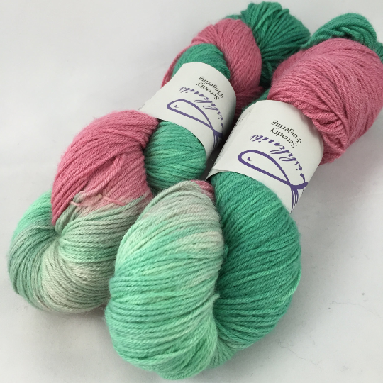 Image of Blooming Basil: Serenity fingering yarn