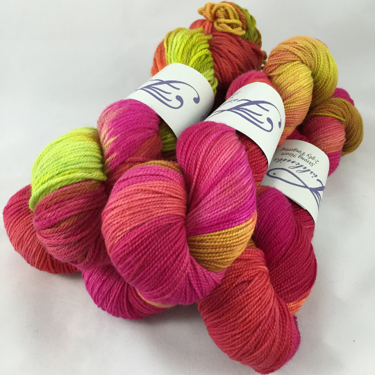 Image of Daiquiri: Superwash Bountiful 2 Hand Painted worsted weight Yarn