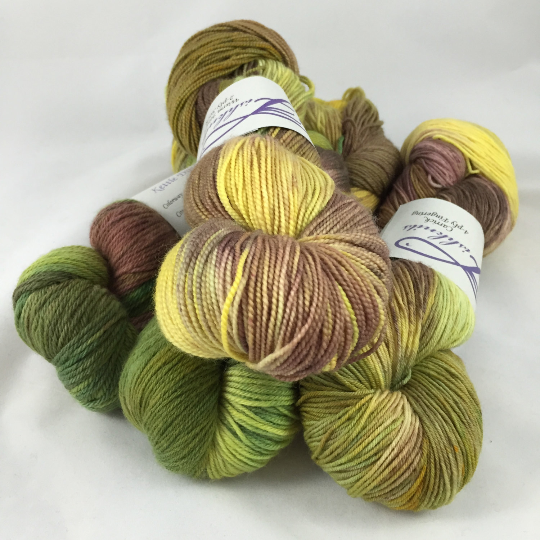 Image of Maize: Kettle Dyed assorted Superwash fingering or worsted bases