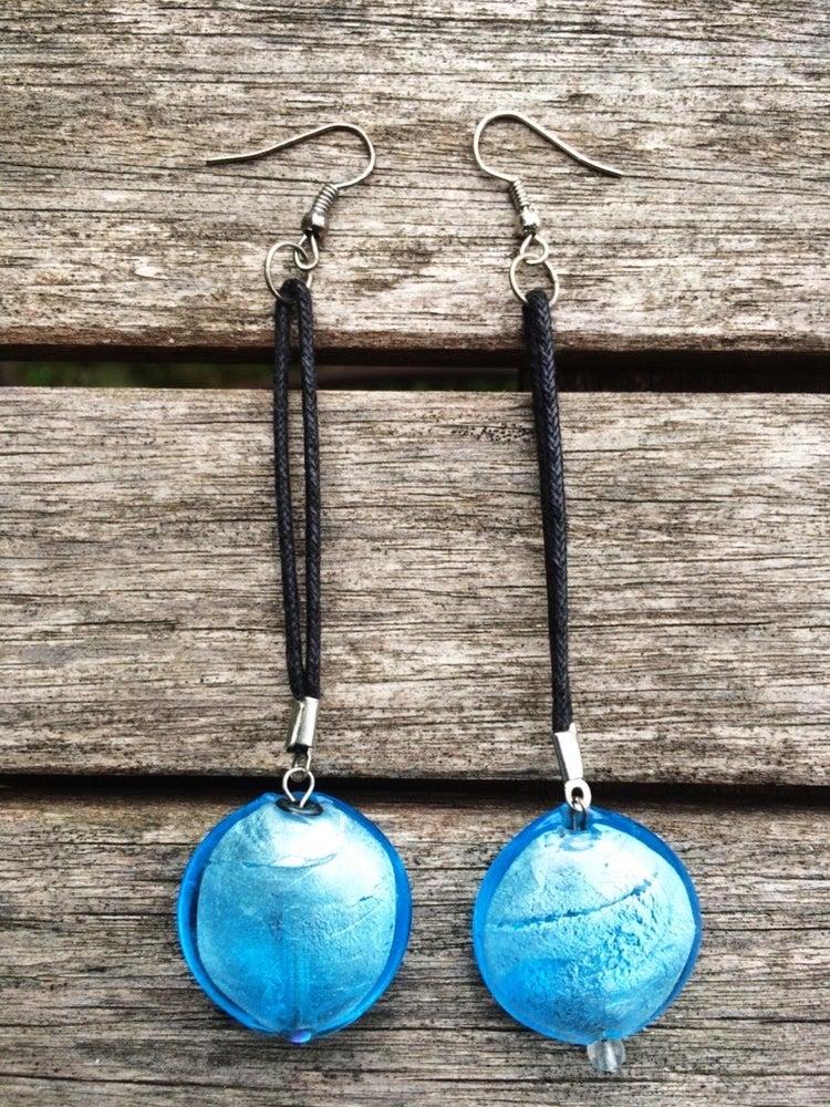 Image of Blueberry Drop Earrings