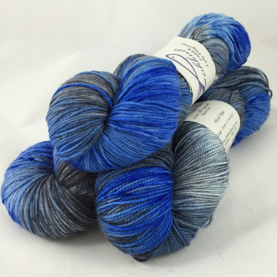 Image of Rhythm & Blues: Kettle Dyed Superwash Carrick fingering
