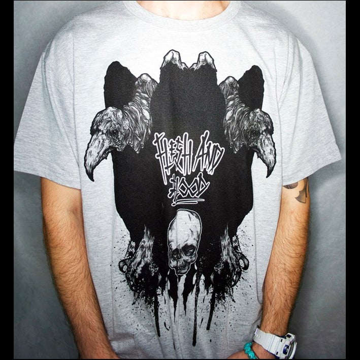 Image of Double Headed Vulture - Tshirt - Grey