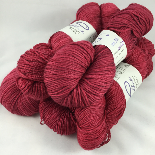 Image of Mean Red #3: Superwash Warm Heart, Promenade DK, or Bountiful bases