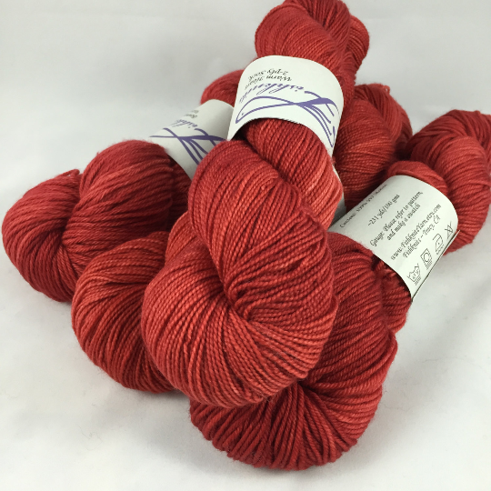 Image of Mean Red #2: Superwash Warm Heart, Promenade DK, or Bountiful bases