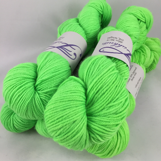 Image of Neon Green: Superwash Warm Heart Fingering or Bliss MCN DK