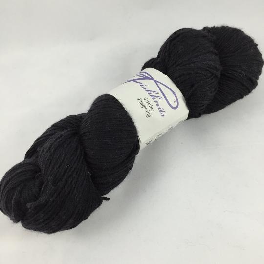 Image of Black Tie: Superwash Divine MCN Fingering, Shawl quantity at 550 yards!