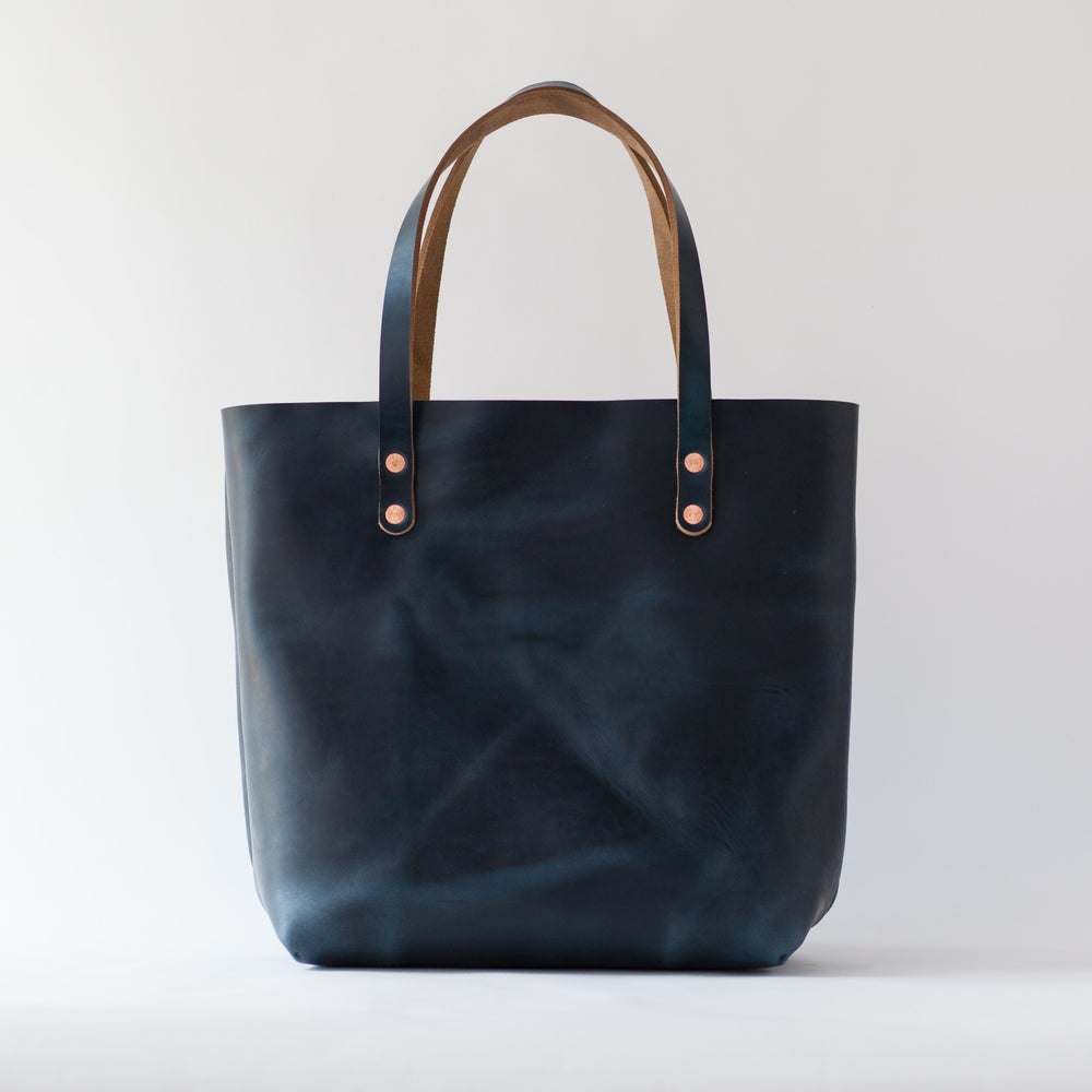 Image of Navy Blue Horween Chromexcel Tote