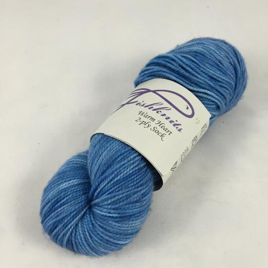 Image of Grey Blue Buddy skein, 50 gms: Superwash Warm Heart Fingering