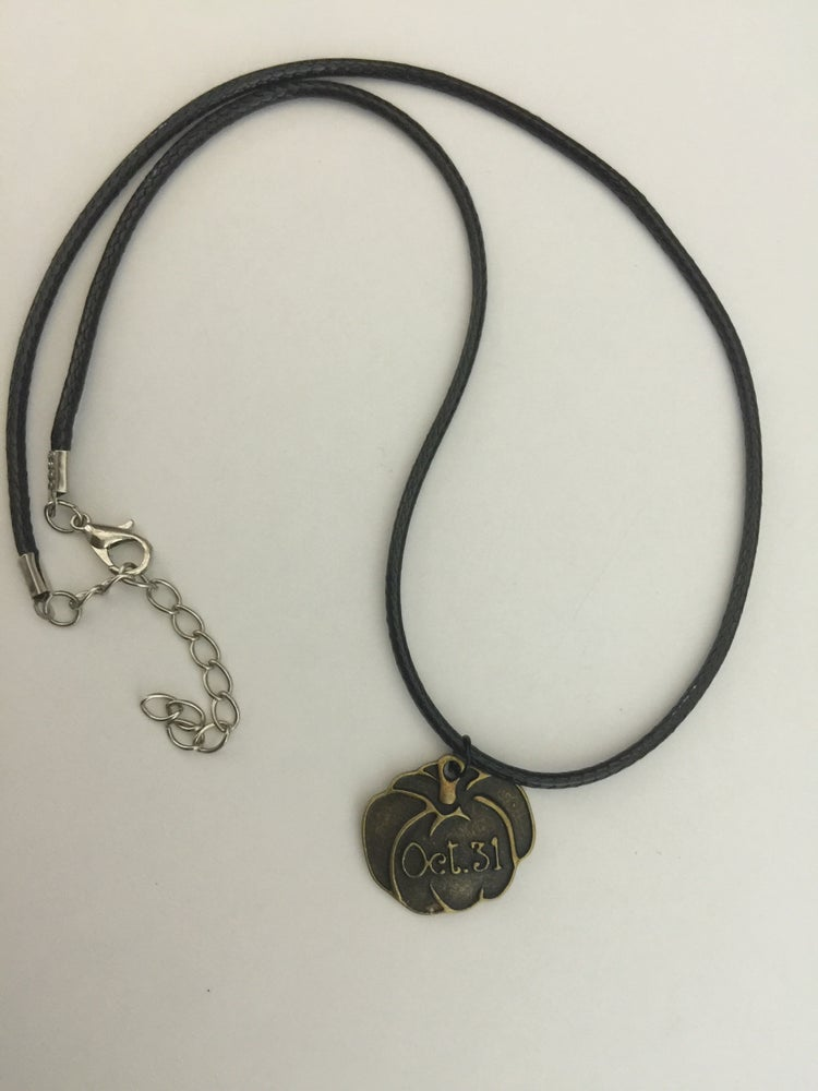 Image of October 31 charm necklace