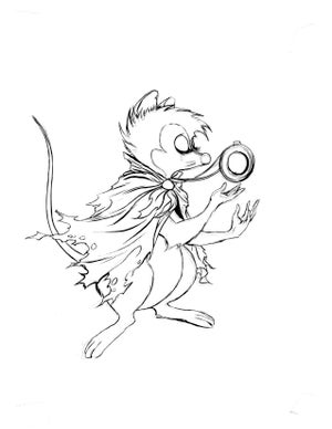 Image of Mrs Brisby rejected original hand inks