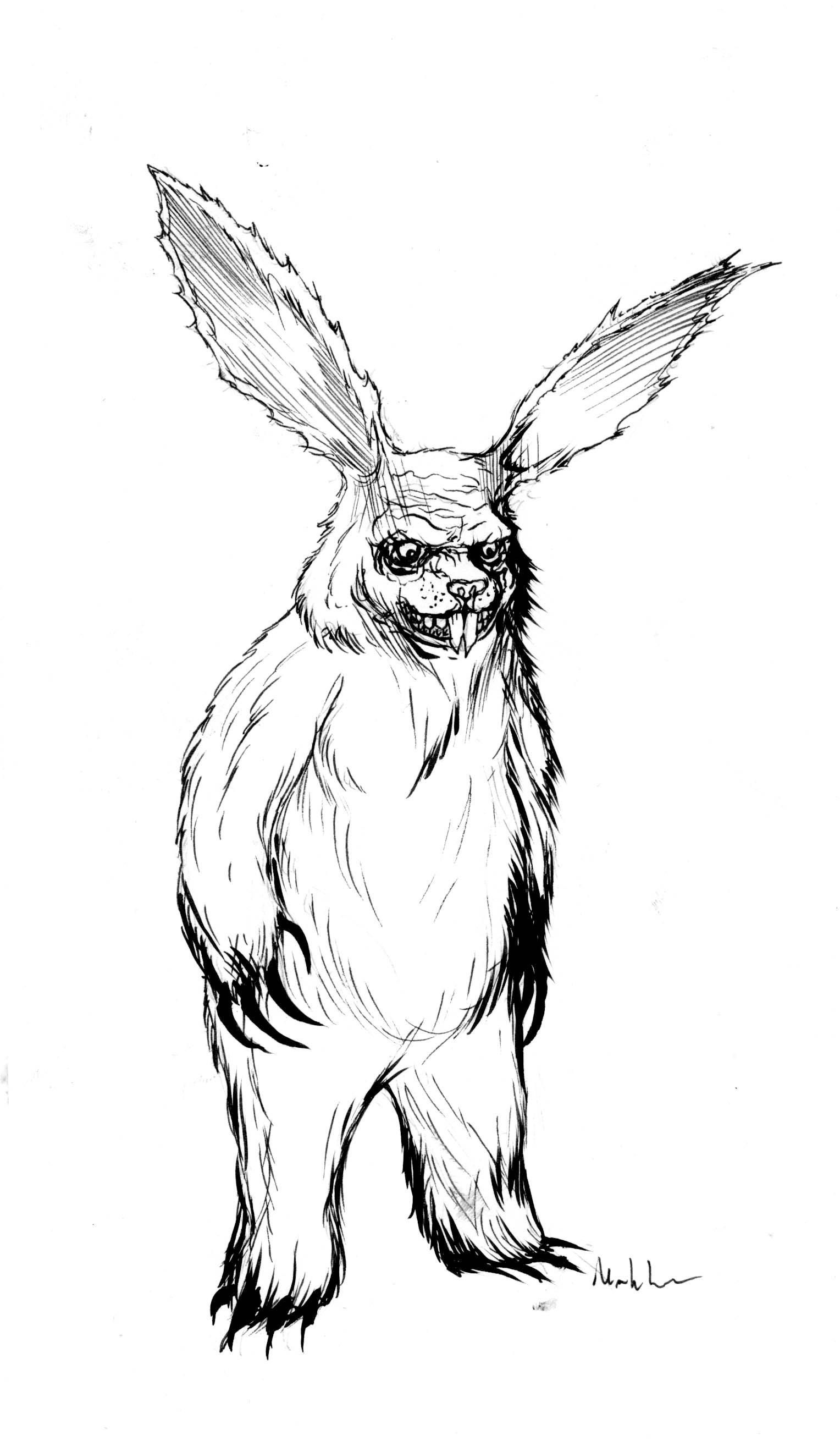 markloneart u2014 evil easter bunny from bogus journey