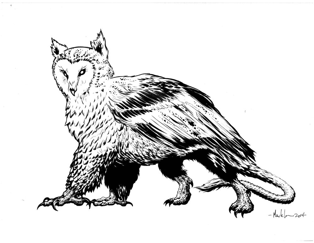 Image of Griffon inked piece