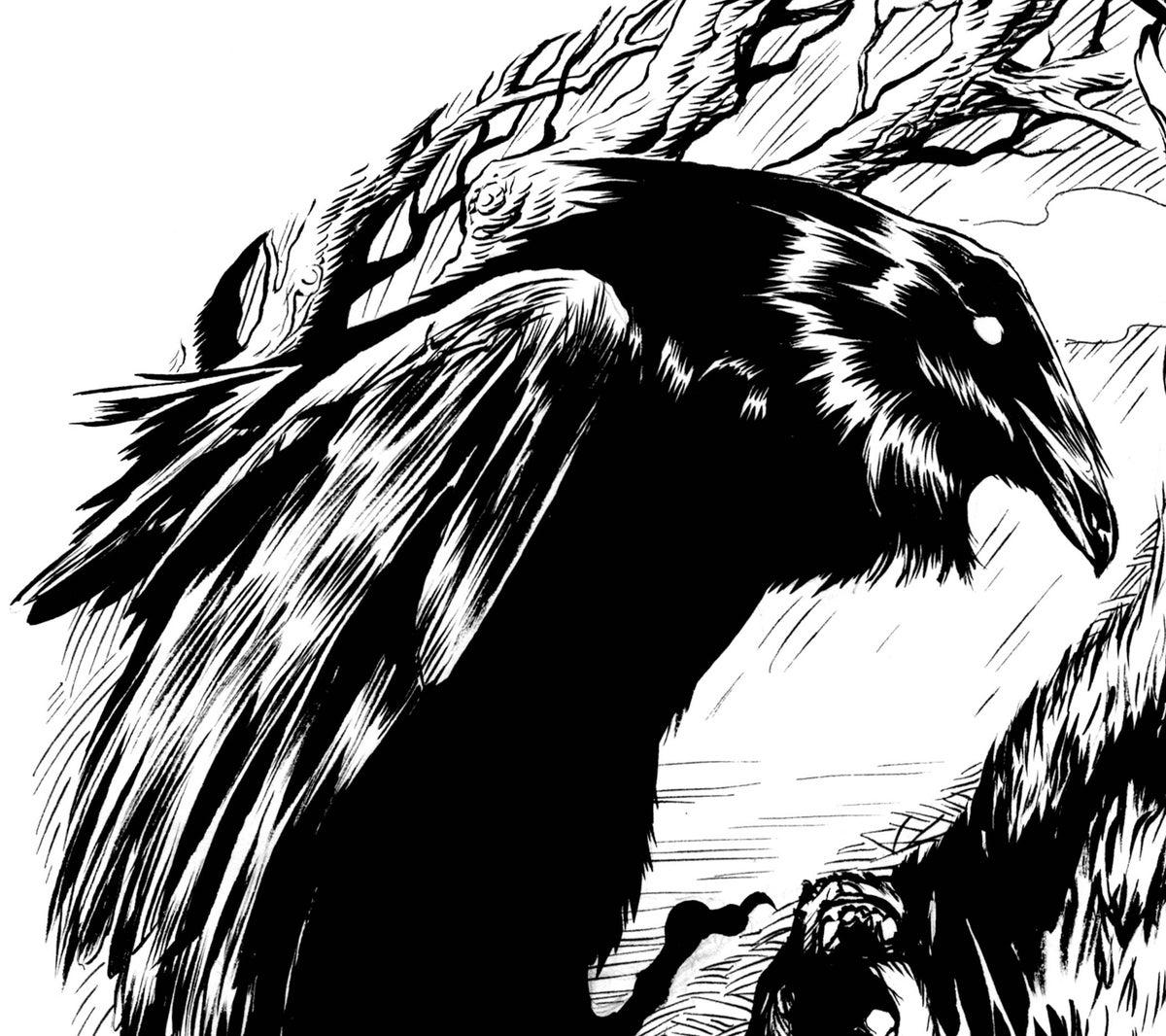 Online Auto Insurance >> Raven and Wolf ying yang original art | markloneart