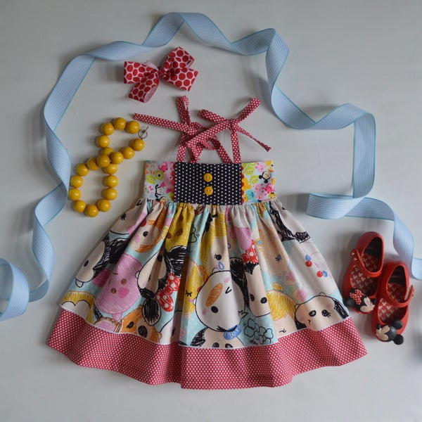 Image of Tsum Tsum Toss tie top dress