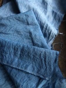 Image of Naturally dyed linen - Indigo