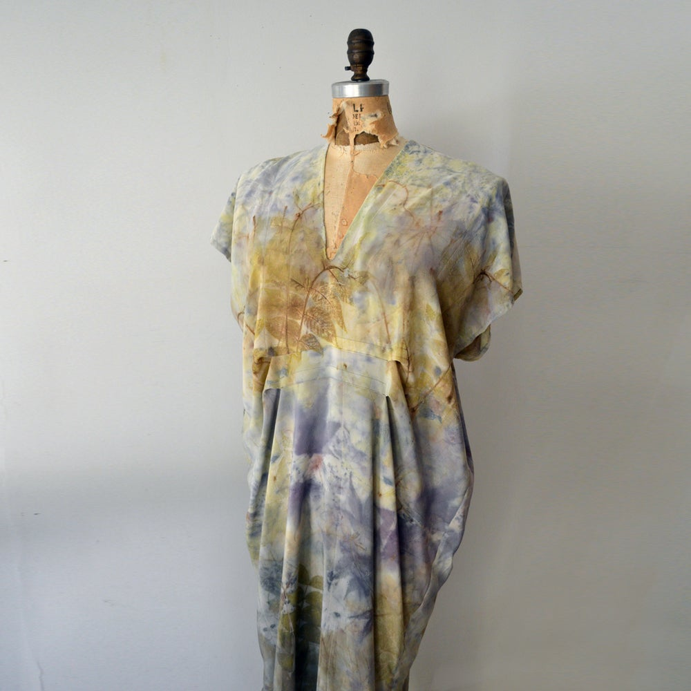 Image of Rainbow Woodland Silk Kaftan dress