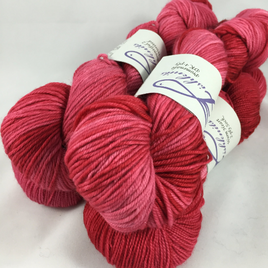 Image of Mean Red #1: Superwash Strong Heart, Warm Heart, or Bountiful bases