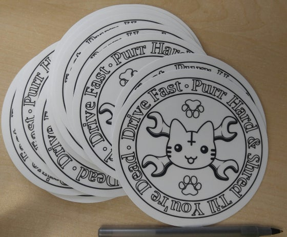 Image of DFK Round Logo Sticker