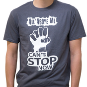 Image of Cant Stop Now Grey Tee