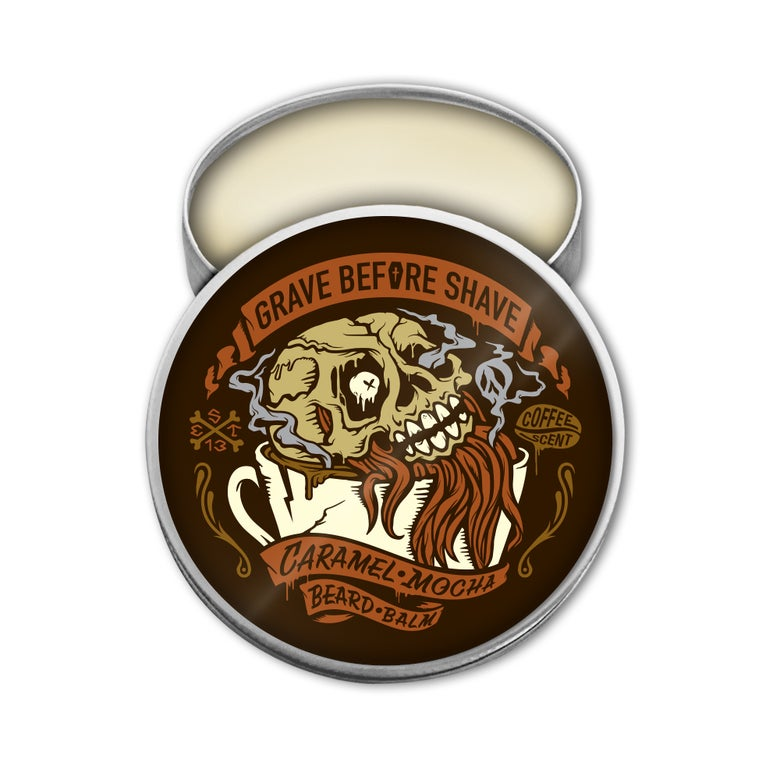 Image of GRAVE BEFORE SHAVE™ Caramel Mocha Blend Beard Balm (Caramel Mocha Coffee scent)