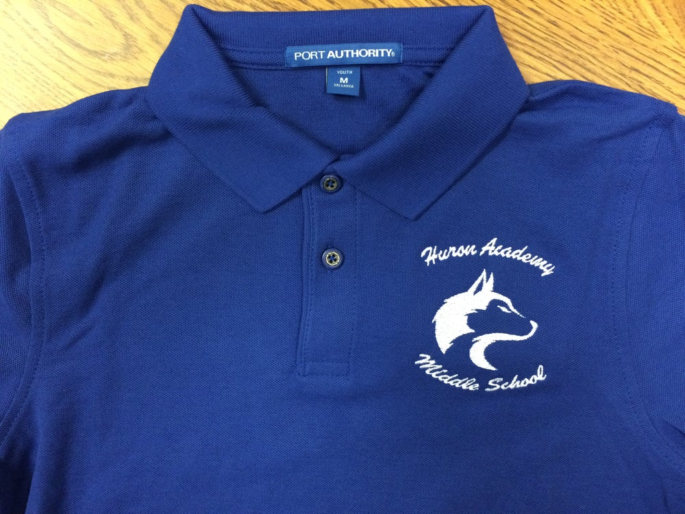 Image of Huron Middle School Polo Shirt