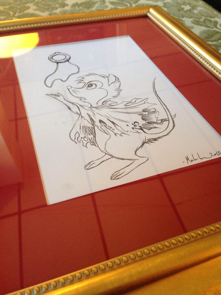 Image of Mrs Brisby original hand inks