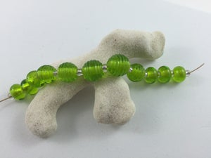 Image of Lampwork Beads - Grass Green Set