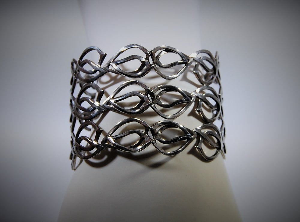 Image of Tratti Silver Large Cuff Bracelet
