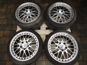 "Image of Porsche 911 993 996 Boxster Split Rim Style 18"" 5x130 Alloy Wheels"