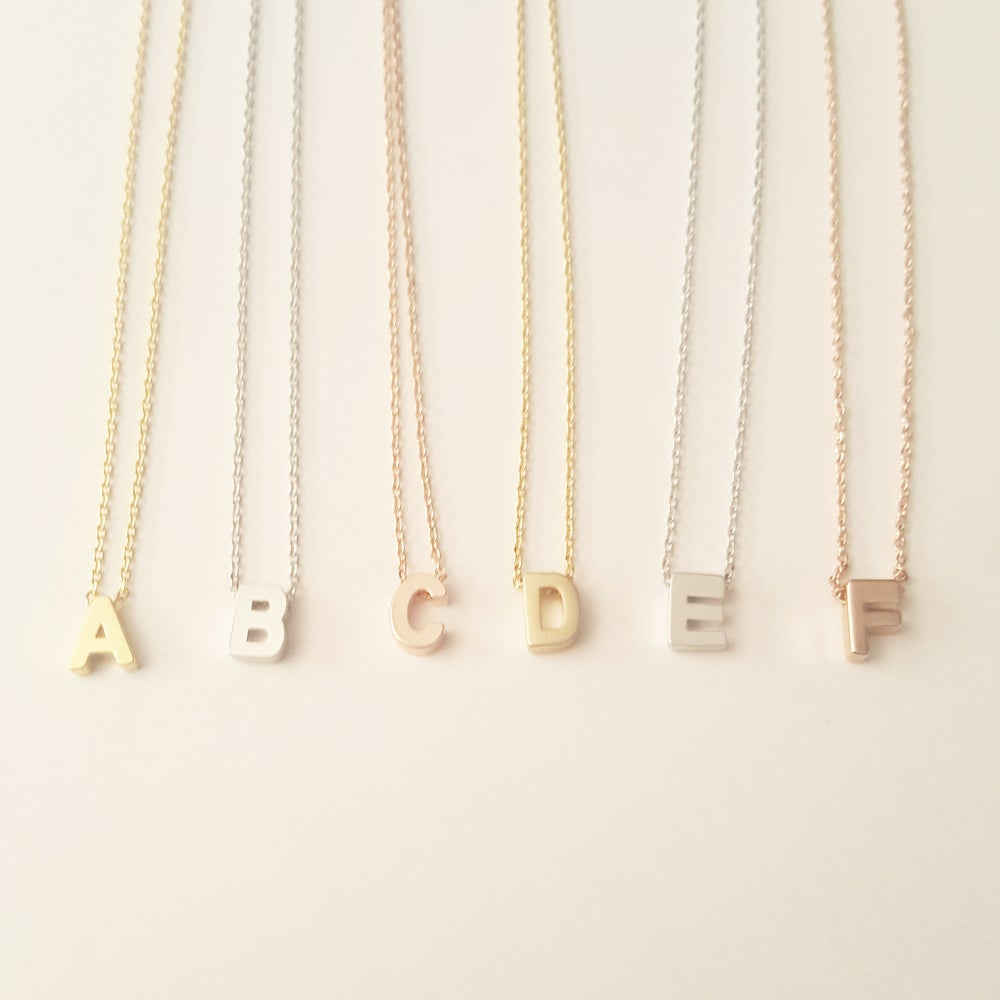 Image of Capital Letter Necklace