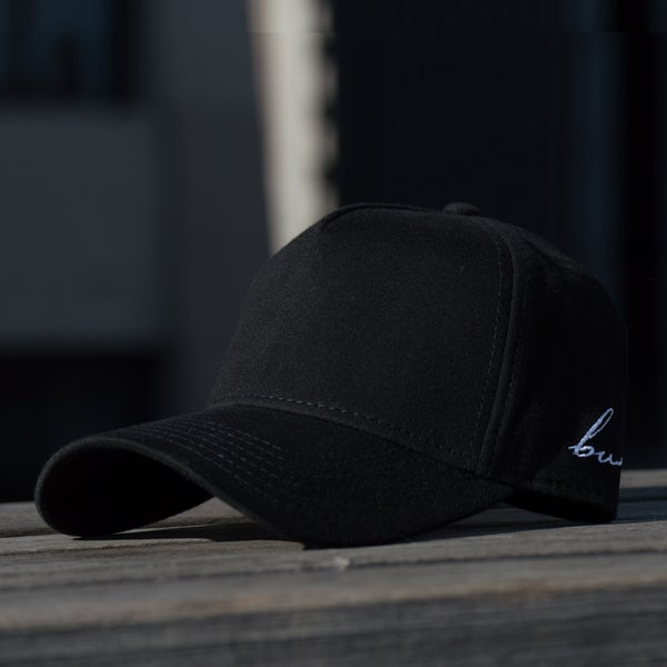 Image of Black Side Script Hat