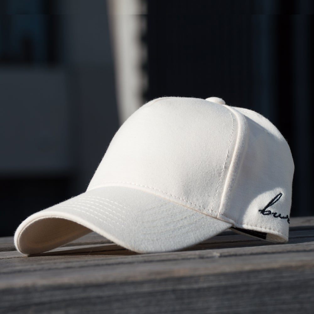Image of Beige Side Script Hat