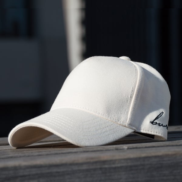 Image of Beige Side Script Hat
