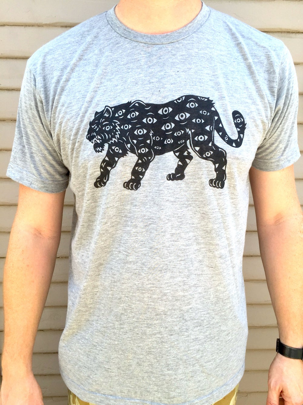 Image of All Seeing Tiger T-shirt (grey)