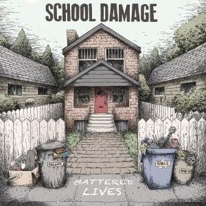Image of School Damage - Battered Lives LP