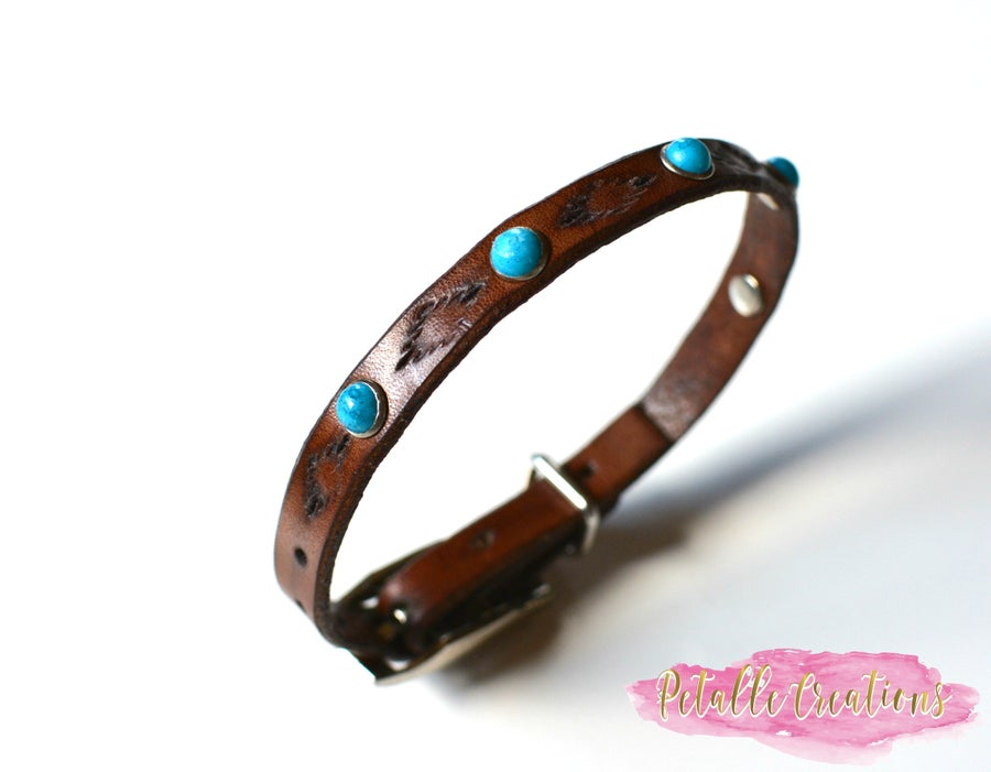 Image of Leather Cat Collar