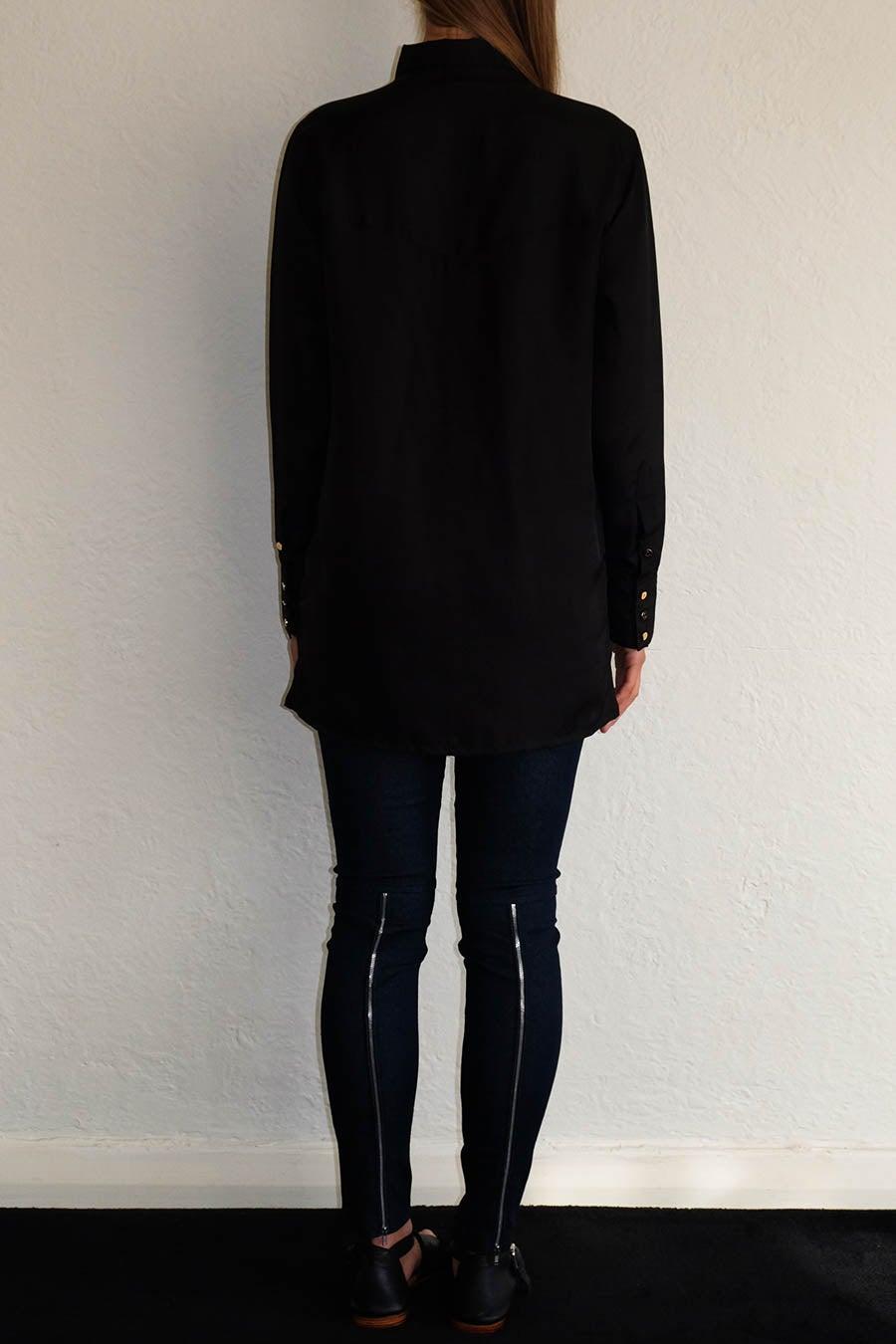 Image of CAMILLE SHIRT - BLACK