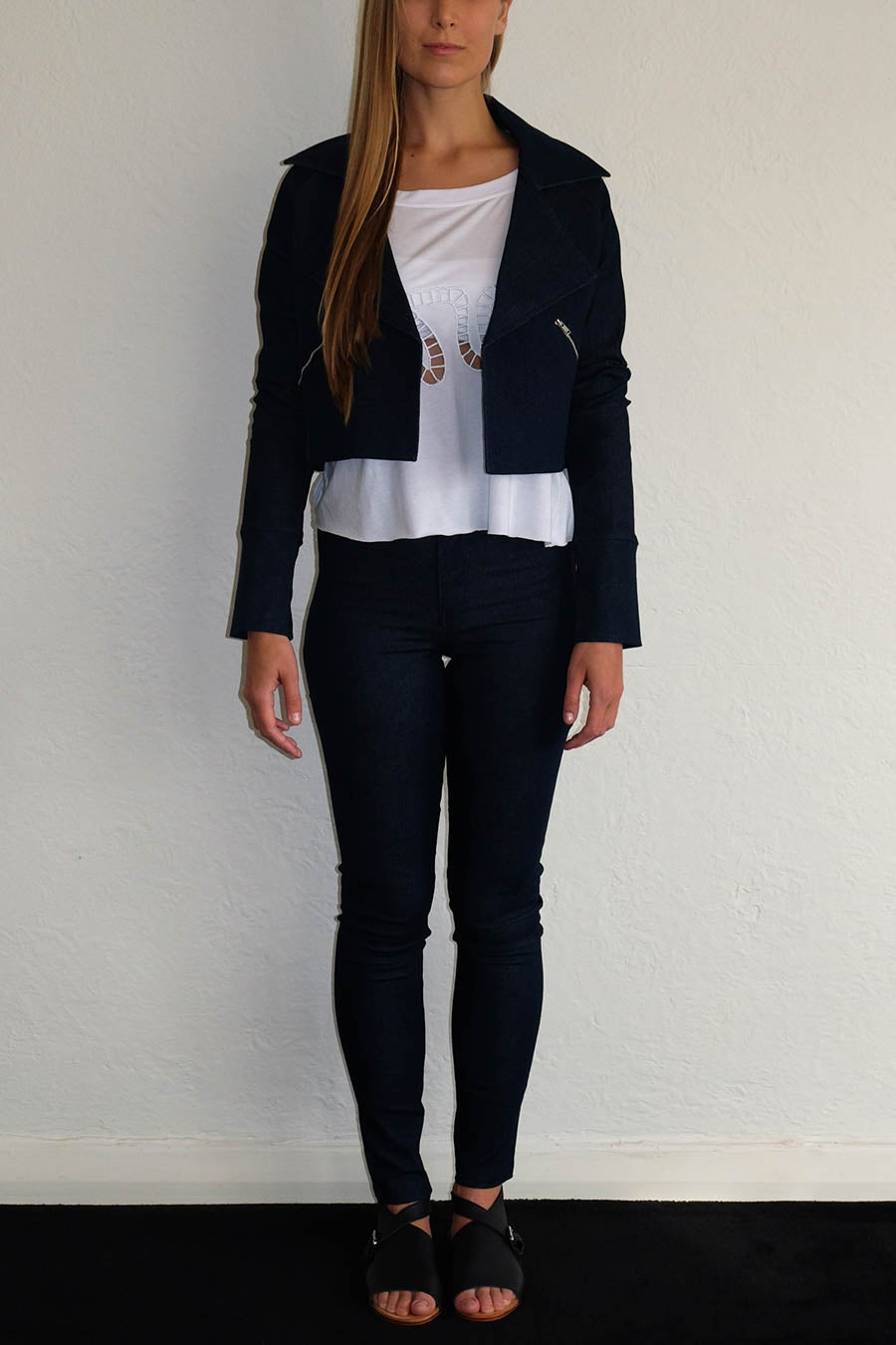 Image of EMMANUELLE JACKET - DARK DENIM