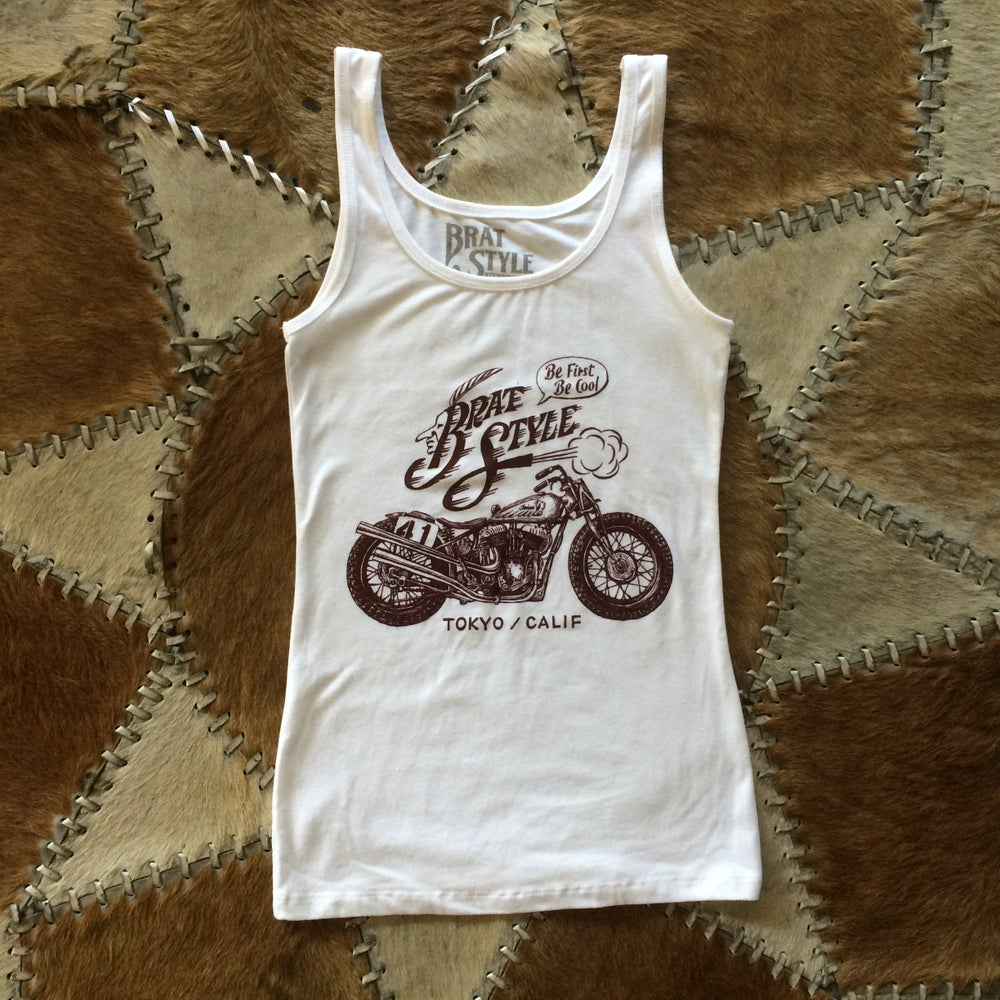 Image of INDIAN WOMEN'S TANK TOP WHITE