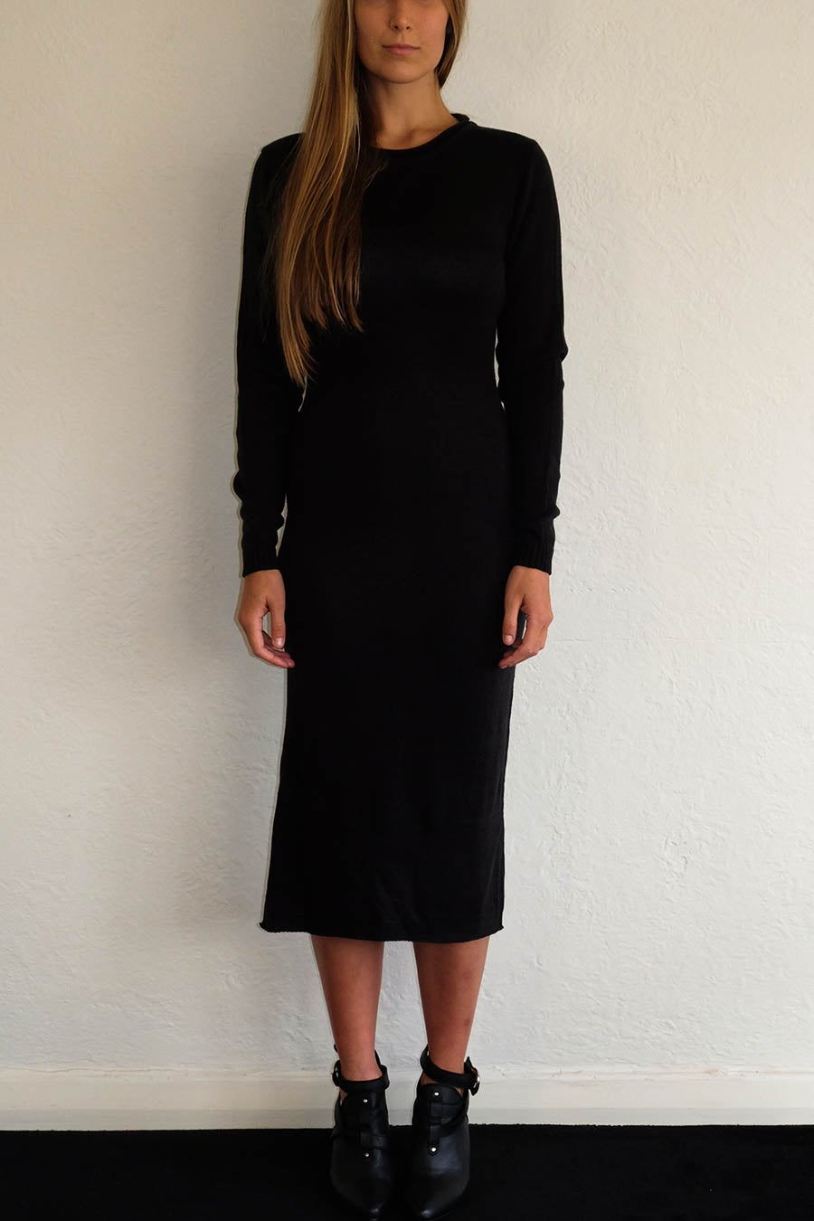 Image of ANKE WINTER DRESS - BLACK