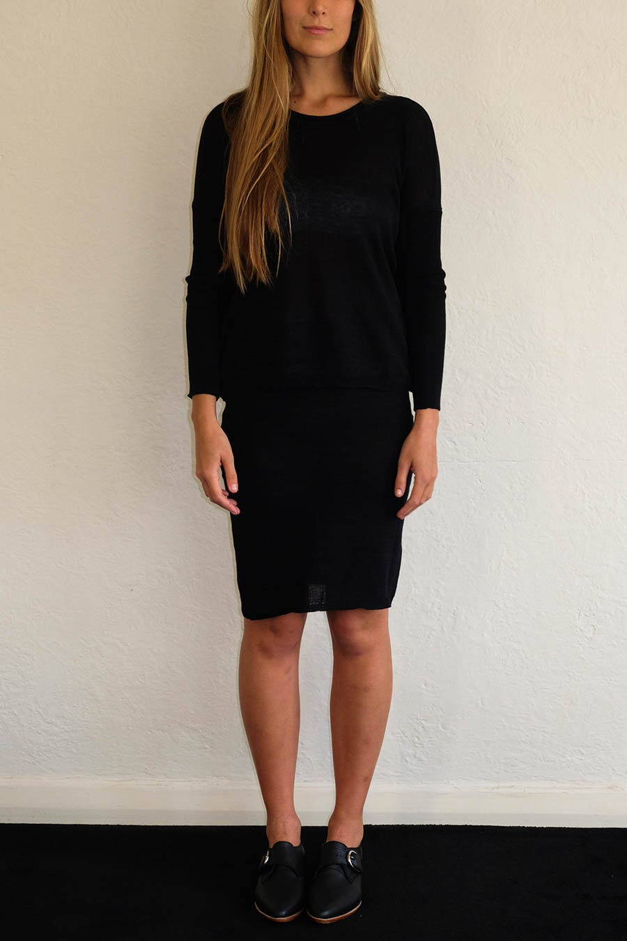 Image of ANKE JUMPER - BLACK