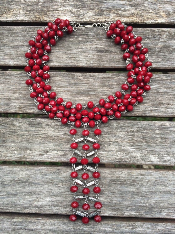 Image of Red Crystal Cleopatra Necklace
