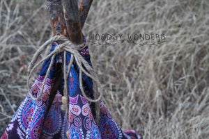 """Image of Raspberry Bohemian Newborn """"Wonderlust"""" TeePee with Hand Harvested Organic Log Poles from the PNW!"""