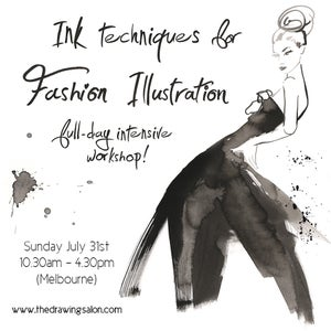 Image of Ink Technique for Fashion Illustration